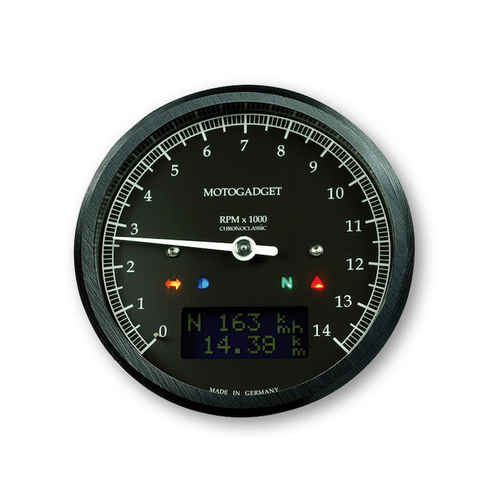Motogadget Chronoclassic 14.000 RPM - zwart