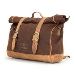 Single Side Saddlebag Waxed Cotton Marron Brown