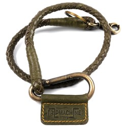 Braided Key Chain -Tan Green