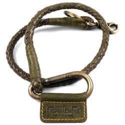 Geflochtener Schlüsselanhänger Grun