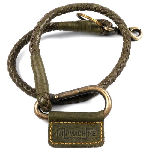 Trip Machine Braided Key Chain -Tan Green