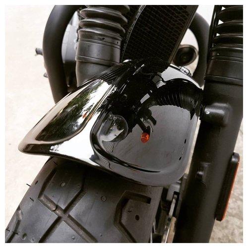 Motone Duckbill Voorspatbord / Spatbord - Hoogglans Zwart - LC