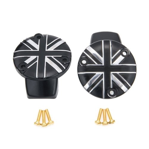 Motone TPS Carb/Throttle body covers - Union jack