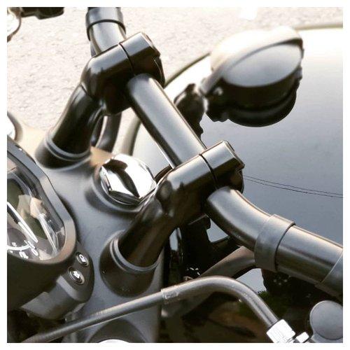 Motone Paire de rehausses de guidon 22 mm - Noir