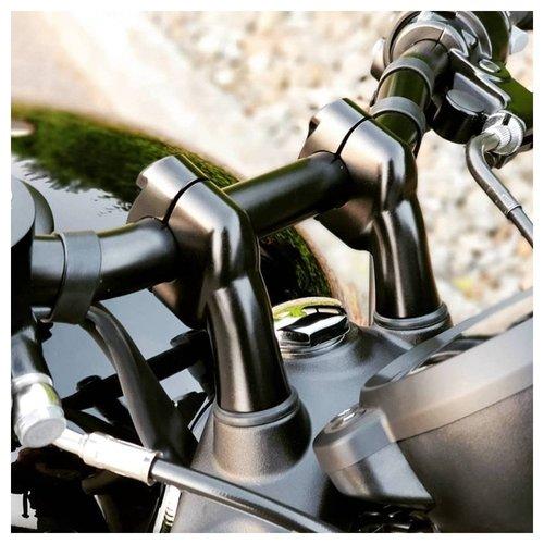 Motone Up-And-Over Riser Kit for 22 mm Bars - Black