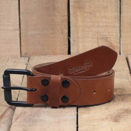 Trip Machine Belt - Vintage Tan Single Pin