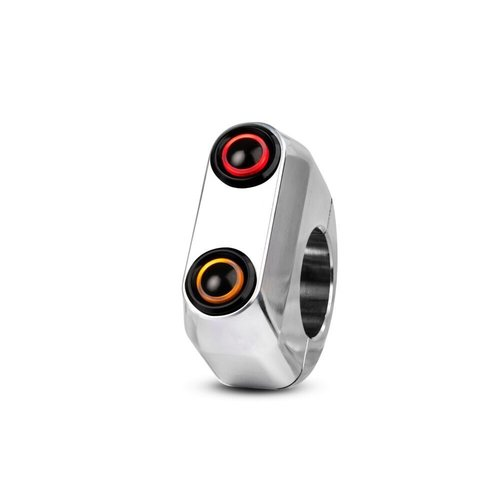 "Rebelmoto REBEL SWITCH 2 button LED – polished 1"""