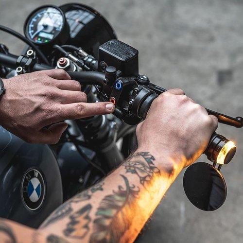 Rebelmoto REBEL.SWITCH 3 knops LED - polished 22mm