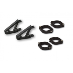 CNC Alu-koplamp bracket set XS