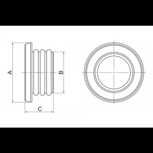 Highsider CNC FRAME CAP Set Ein BMW RnineT