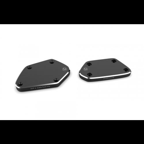 Highsider CNC-Deckelsatz für Kupplungs- und Bremsflüssigkeitsbehälter BMW RnineT