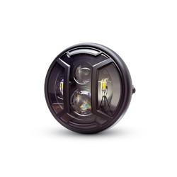 "7.7"" Matte Black Multi Projector LED Headlight + Armour Cover"