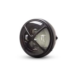 "7  ""Matte Black Multi Projektor LED Scheinwerfer +  X Cross Cover"