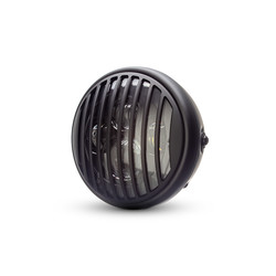 "7  ""Matte Black Multi Projektor LED Scheinwerfer +  Vent Cover"