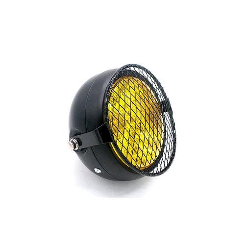"""6.3"""" Koplamp Geel / Zwart - Metaal Type 16"""
