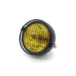 "6.3"" Headlight Yellow / Black - Metal Type 16"