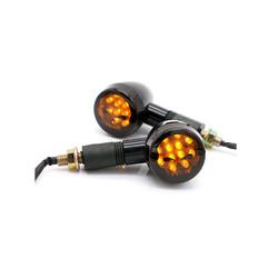 LED Custom  Black & Smoke Knipperlichten SKULL