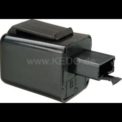 Relais clignotant LED 12V Connecteur triple avec deux broches.