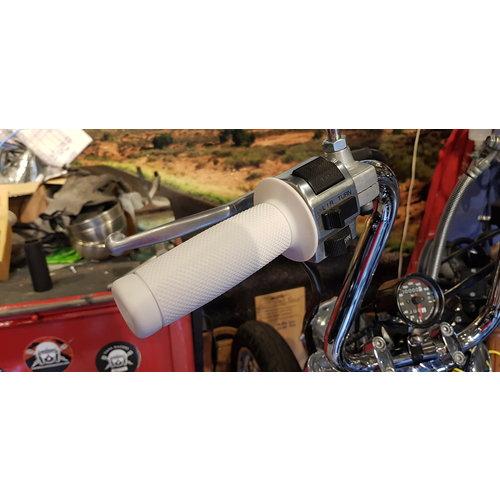 Biltwell 22mm Renegade Handvatten White TPV