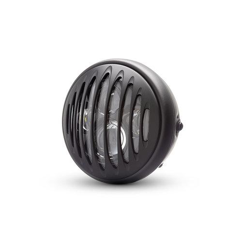 "7  ""Matzwarte multi-projector LED-koplamp +  prison Cover"
