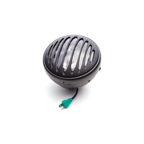 """Projecteur à LED 7,7"""" avec multiprojecteur noir mat et grille prison"""