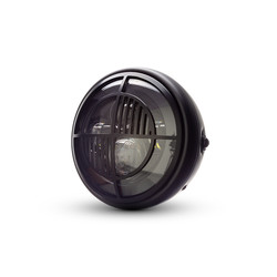 "7  ""Matte Black Multi Projektor LED Scheinwerfer +  Beemer Cover"