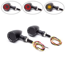 Feux de stop / feux arrière + clignotants à LED noirs Bullet en alliage