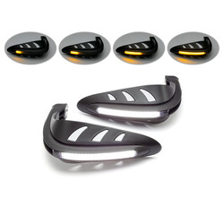 LED Handguards with Integrated Running Lights + Turn Signals