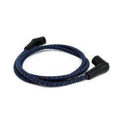 Câble de bougie tressée 7MM bleu / rouge