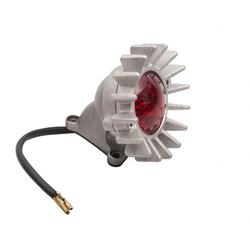 Big Fin achterlicht LED + spatbordbevestigingsset -Shot blast