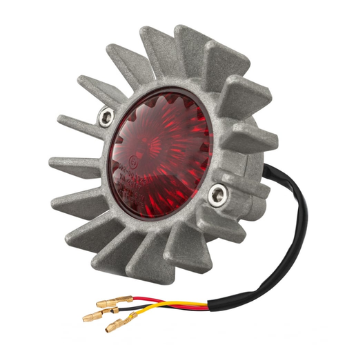 Motone Big Fin achterlicht LED + spatbordbevestigingsset -Shot blast