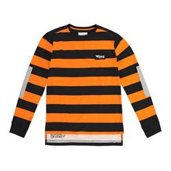 Pull Jeff orange et noir