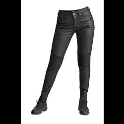 Kusari Black - Jean moto skinny en tissu protecteur pour Femme