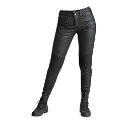Kusari Black – Women's Skinny-Fit Kevlar® Motorcycle Jeans