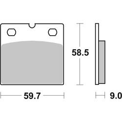 Plaquette de frein standard BMW R65 R80 R100