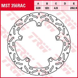 Lucas vaste remschijf RAC MST356