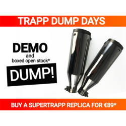 "2e kans - Universele Chromen Demper ""Supertrapp"" Short - Lees de beschrijving!"