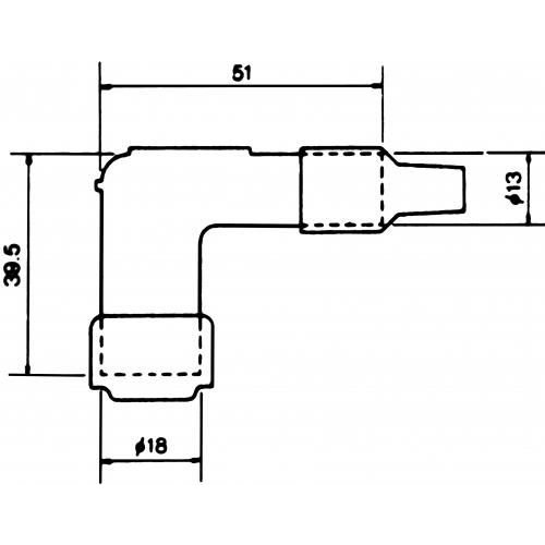 NGK Zündkerzenstecker LB05F Schwarz
