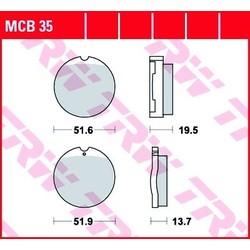 Honda CB Vordere Bremsbeläge MCB35