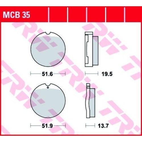 Honda CB Plaquettes de frein avant MCB35