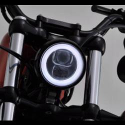 "4.5"" LED Halo Koplamp ""Capsule120"" Zwart Zijmontage"