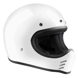 HMX ECE Historischer Motocross Helm Weiß