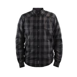Tissu de protection Moto Shirt Gris / Noir