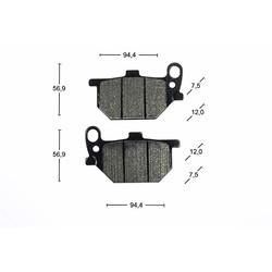 Remblokken voorkant STD MCB520 Yamaha XS 750 XV 750