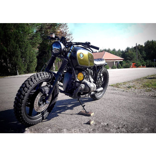 SOLD!!  BMW R80 Caferacer (Golden green)