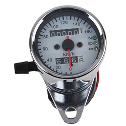 White Speedometer with 3 Function Lights 160km/h