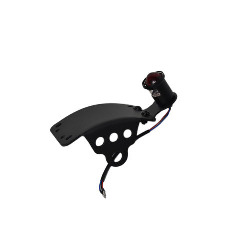 Black Side Mount Curved Atomic LED Tail Light