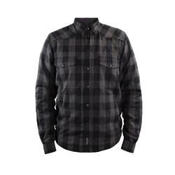 Motoshirt Grau / Schwarz