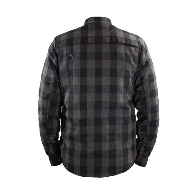 Black With XTM Kevlar John Doe Motorbike Motorcycle Motoshirt Grey