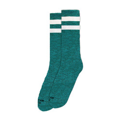 Mid High Turquoise Noise Socks